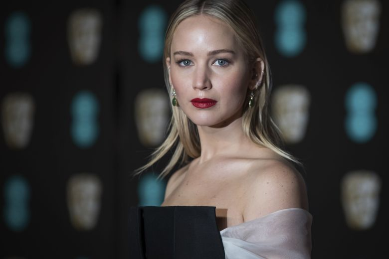 Jennifer Lawrence poses for photographers upon arrival at the BAFTA Film Awards, in LondonBritain BAFTA Awards 2018 Arrivals - 18 Feb 2018