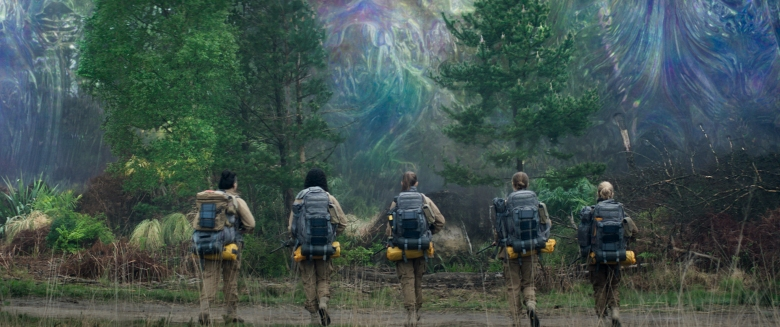 Gina Rodriguez, Tessa Thompson, Tuva Novotny, Natalie Portman and Jennifer Jason Leigh in Annihilation from Paramount Pictures and Skydance.