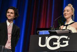 Timothée Chalamet and Saoirse RonanSanta Barbara Award, Show, 33rd Santa Barbara International Film Festival, USA - 04 Feb 2018