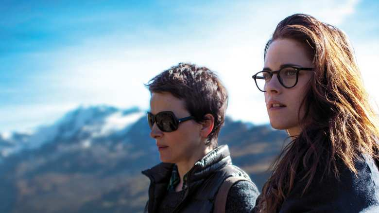 Clouds of Sils Maria Juliette Binoche and Kristen Stewart