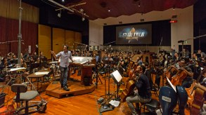 Composer, Jeff Russo during a scoring session for the CBS All Access series STAR TREK: DISCOVERY in Los Angeles, Ca. Photo Cr: Lisette M. Azar/CBS © 2017 CBS Interactive. All Rights Reserved.