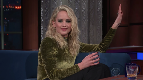 Jennifer Lawrence Stephen Colbert