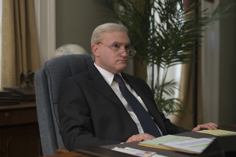 "THE LOOMING TOWER -- ""Losing My Religion"" - Episode 102 - Following the simultaneous embassy bombings in Kenya and Tanzania, the FBI begins its investigation on the ground while the CIA starts working on a retaliation plan. Richard Clarke (Michael Stuhlbarg), shown. (Photo by: JoJo Whilden/Hulu)"