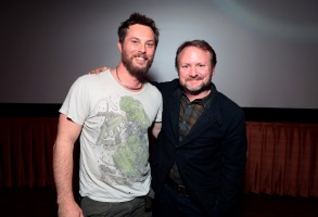 """Director Duncan Jones and Rain Johnson at Netflix Films """"MUTE"""" Special Screening on February 22 at The Grove, Los Angeles, CA"""
