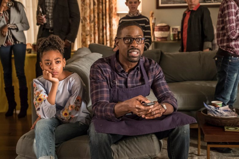 THIS IS US -- Episode 214 -- Pictured: (l-r) Eris Baker as Tess, Sterling K. Brown as Randall -- (Photo by: Ron Batzdorff/NBC)