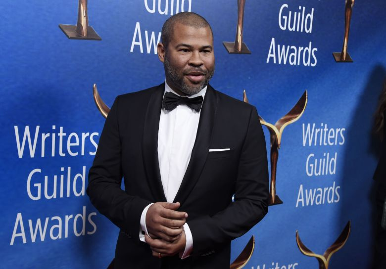 """Jordan Peele, writer/director of the film """"Get Out,"""" poses at the 2018 Writers Guild Awards at the Beverly Hilton, in Beverly Hills, Calif2018 Writers Guild Awards, Beverly Hills, USA - 11 Feb 2018"""