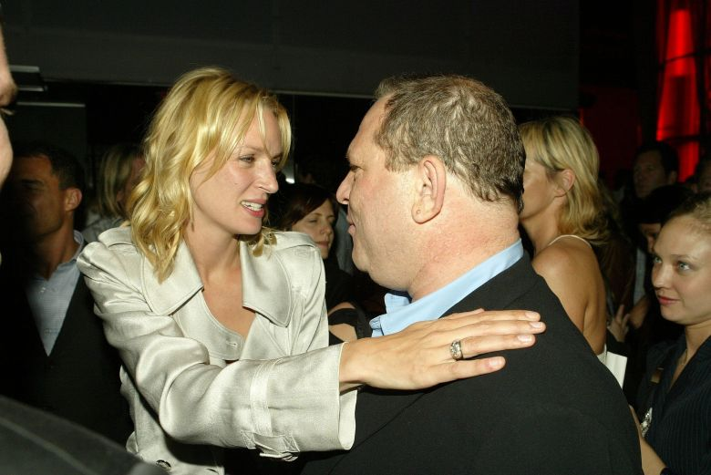 Uma Thurman Harvey Weinstein Kill Bill 2 premiere