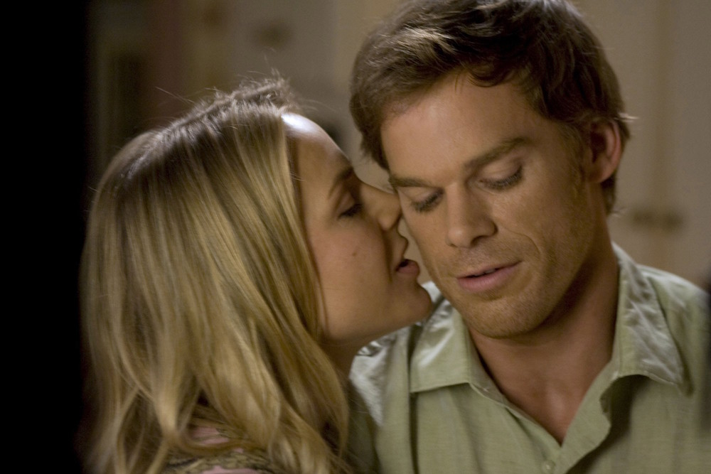 No Merchandising. Editorial Use Only. No Book Cover Usage.Mandatory Credit: Photo by Showtime/Kobal/REX/Shutterstock (5886194bl)Julie Benz, Michael C. HallDexter - 2006ShowtimeUSATelevision