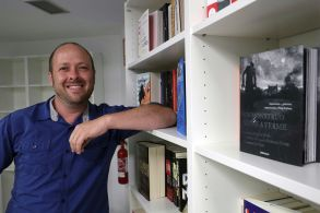 Jay AsherInterview to '13 Reasons Why' book's author, Madrid, Spain - 17 Jul 2017US writer Jay Asher poses for photographer holding a copy of his book '13 Reasons Why' during an interview in Madrid, Spain, 17 July 2017. The famous Netflix's original series also named '13 Reasons Why' is based on Jay Asher's book.