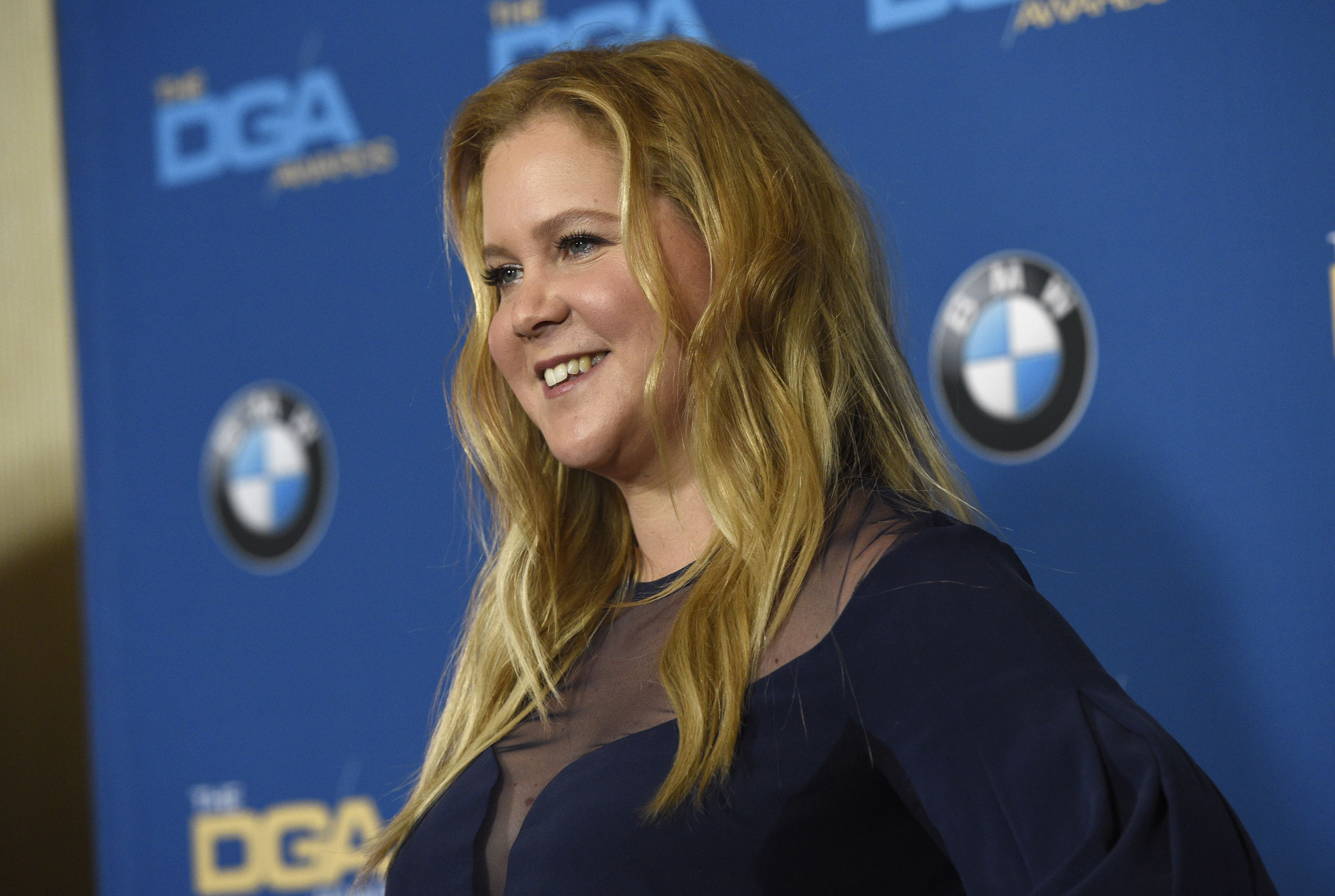Amy Schumer poses in the press room at the 70th annual Directors Guild of America Awards at The Beverly Hilton hotel, in Beverly Hills, Calif70th Annual DGA Awards - Press Room, Beverly Hills, USA - 03 Feb 2018