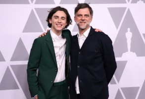 Timothee Chalamet and Paul Thomas AndersonThe Academy Awards Nominees Luncheon, Los Angeles, USA - 05 Feb 2018