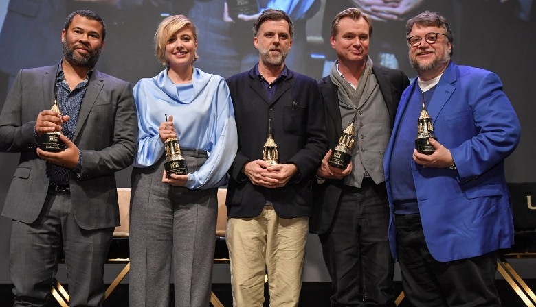 Jordan Peele, Greta Gerwig, Paul Thomas Anderson, Christopher Nolan and Guillermo Del ToroOutstanding Directors of the Year Award, Show, 33rd Santa Barbara International Film Festival, USA - 06 Feb 2018