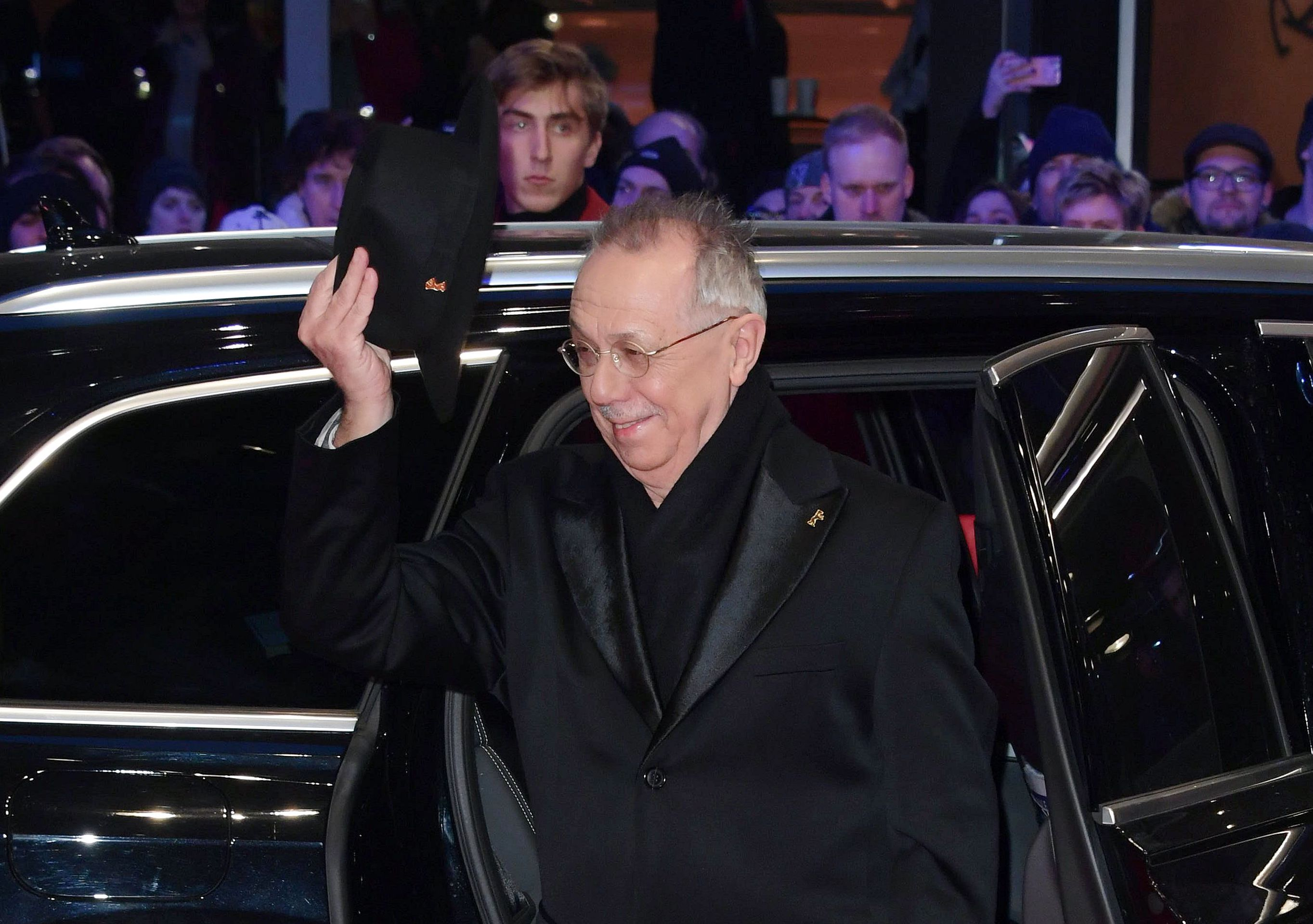 Director of the Festival Dieter Kosslick, gestures as he arrives at the red carpet for the opening ceremony of the 68th annual Berlin International Film Festival (Berlinale), in Berlin, Germany, 15 February 2018. The Berlinale runs from 15 to 25 February.Opening Ceremony - 68th Berlin Film Festival, Germany - 15 Feb 2018
