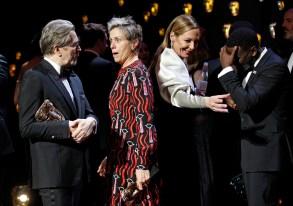 Gary Oldman, Frances McDormand, Allison Janney and Daniel Kaluuya71st British Academy Film Awards, Winners, Royal Albert Hall, London, UK - 18 Feb 2018