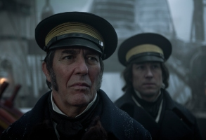 Ciarán Hinds as John Franklin, Tobias Menzies as James Fitzjames - The Terror _ Season 1, Episode 1 - Photo Credit: Aidan Monaghan/AMC