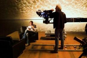 """Director Denis Villeneuve and DP Roger Deakins on the set of """"Blade Runner 2049"""""""