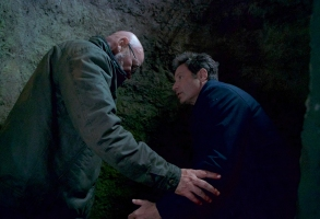 """THE X-FILES:  L-R:  Mitch Pileggi and David Duchovny in the """"Kitten"""" episode of THE X-FILES airing Wednesday, Feb. 7 (8:00-9:00 PM ET/PT) on FOX.  ©2018 Fox Broadcasting Co.  Cr:  Shane Harvey/FOX"""