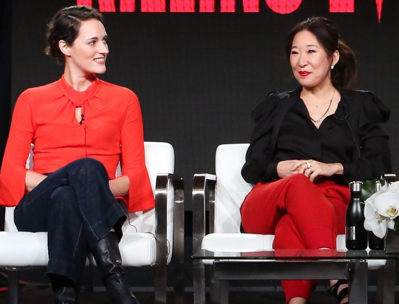 Phoebe Waller-Bridge and Sandra Oh