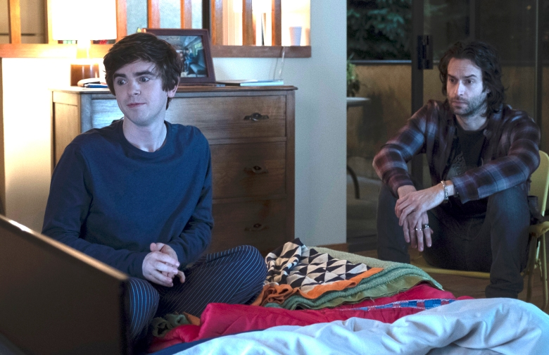 "Freddie Highmore and Chris D'Elia, ""The Good Doctor"""