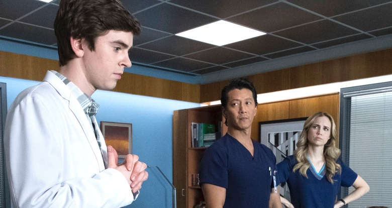 Freddie Highmore, Will Yun Lee, and Fiona Gubelmann, 'The Good Doctor""