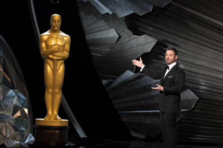 THE OSCARS(r) - The 90th Oscars(r) broadcasts live on Oscar(r) SUNDAY, MARCH 4, 2018, at the Dolby Theatre® at Hollywood & Highland Center® in Hollywood, on the ABC Television Network. (ABC/Ed Herrera)JIMMY KIMMEL