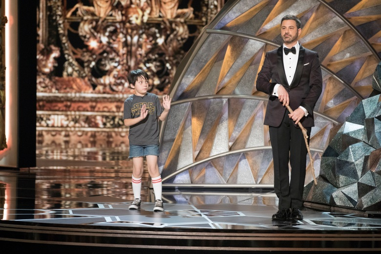 THE OSCARS(r) - The 90th Oscars(r) broadcasts live on Oscar(r) SUNDAY, MARCH 4, 2018, at the Dolby Theatre® at Hollywood & Highland Center® in Hollywood, on the ABC Television Network. (ABC/Craig Sjodin)NICK OTERI, JIMMY KIMMEL