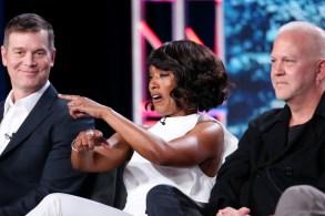 Peter Krause, Angela Bassett and Ryan MurphyFOX '9-1-1' TV show panel, TCA Winter Press Tour, Los Angeles, USA - 04 Jan 2018