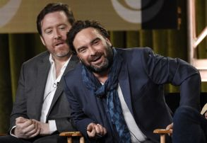 "Johnny Galecki, Patrick Walsh. Johnny Galecki, right, co-executive producer of the new CBS series ""Living Biblically,"" takes part in a panel discussion on the show with co-executive producer Patrick Walsh at the Television Critics Association Winter Press Tour, in Pasadena, Calif2018 Winter TCA, Pasadena, USA - 06 Jan 2018"