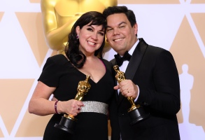 Kristen Anderson-Lopez and Robert Lopez - Original Song - 'Remember Me' from 'Coco'90th Annual Academy Awards, Press Room, Los Angeles, USA - 04 Mar 2018