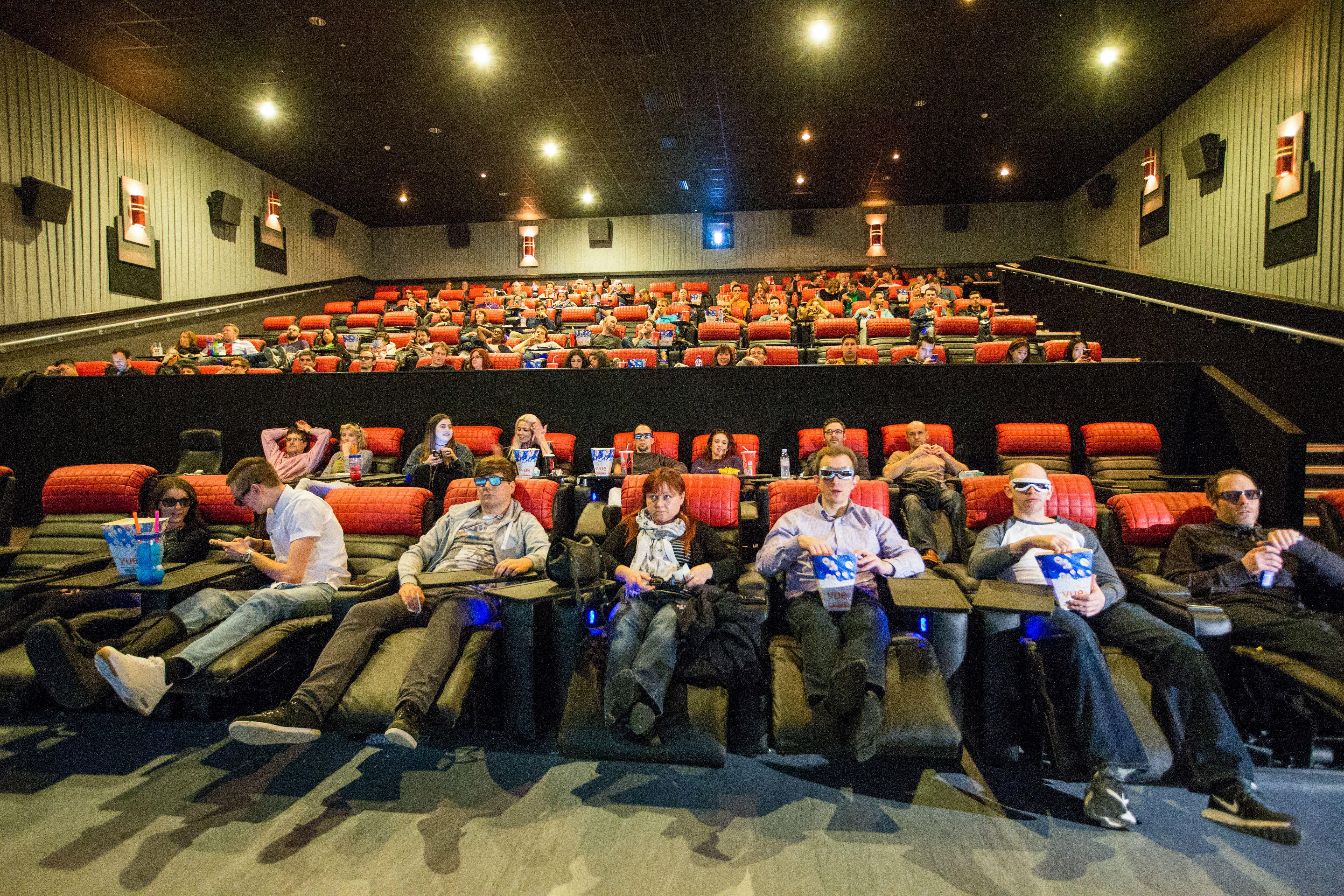 Head Stuck In Reclining Movie Theater