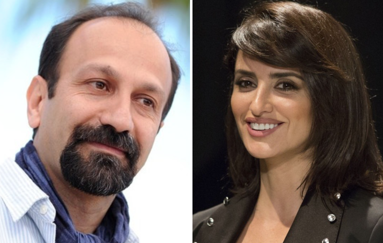 Asghar Farhadi and Penelope Cruz