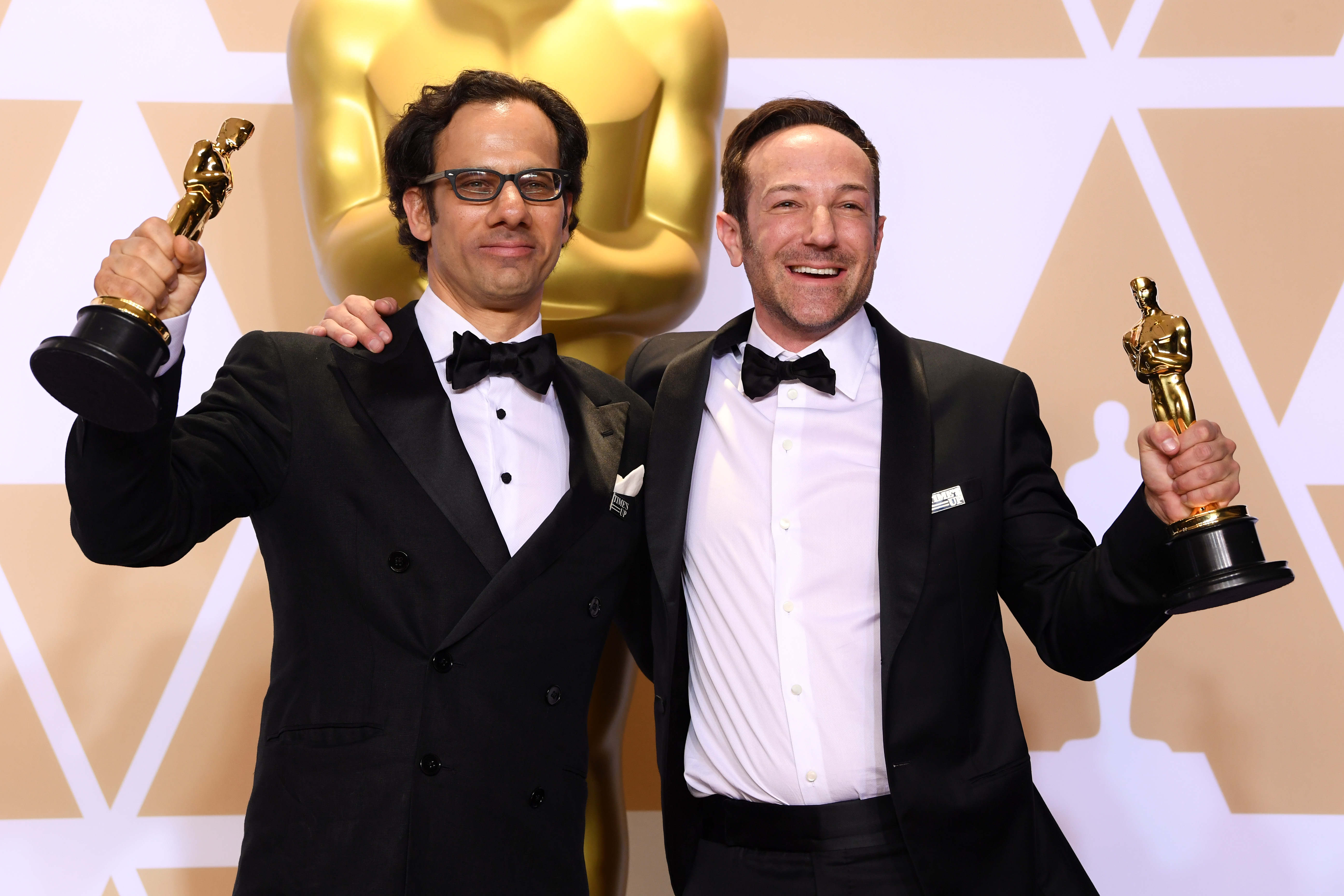 Bryan Fogel and Dan Cogan - Best Documentary Feature - 'Icarus'90th Annual Academy Awards, Press Room, Los Angeles, USA - 04 Mar 2018