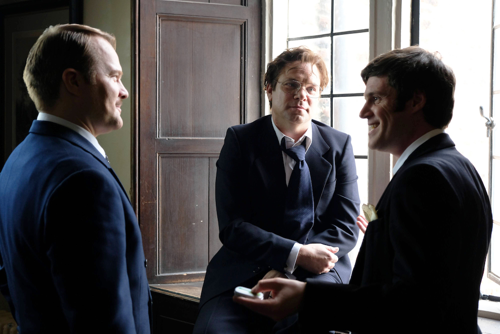 "TRUST -- ""The House of Getty"" -- Episode 1 (Airs Sunday, March 25, 10:00 p.m.) Pictured: (l-r) David Agranov as Ronald Getty, Norbert Leo Butz as Gordon Getty, Michael Esper as J. Paul Getty, Jr. CR: Oliver Upton/FX"