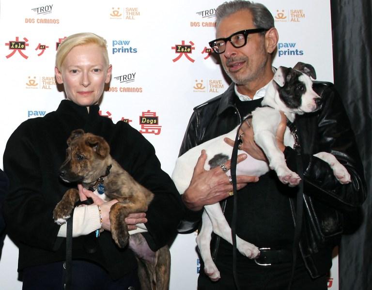 Tilda Swinton and Jeff Goldblum