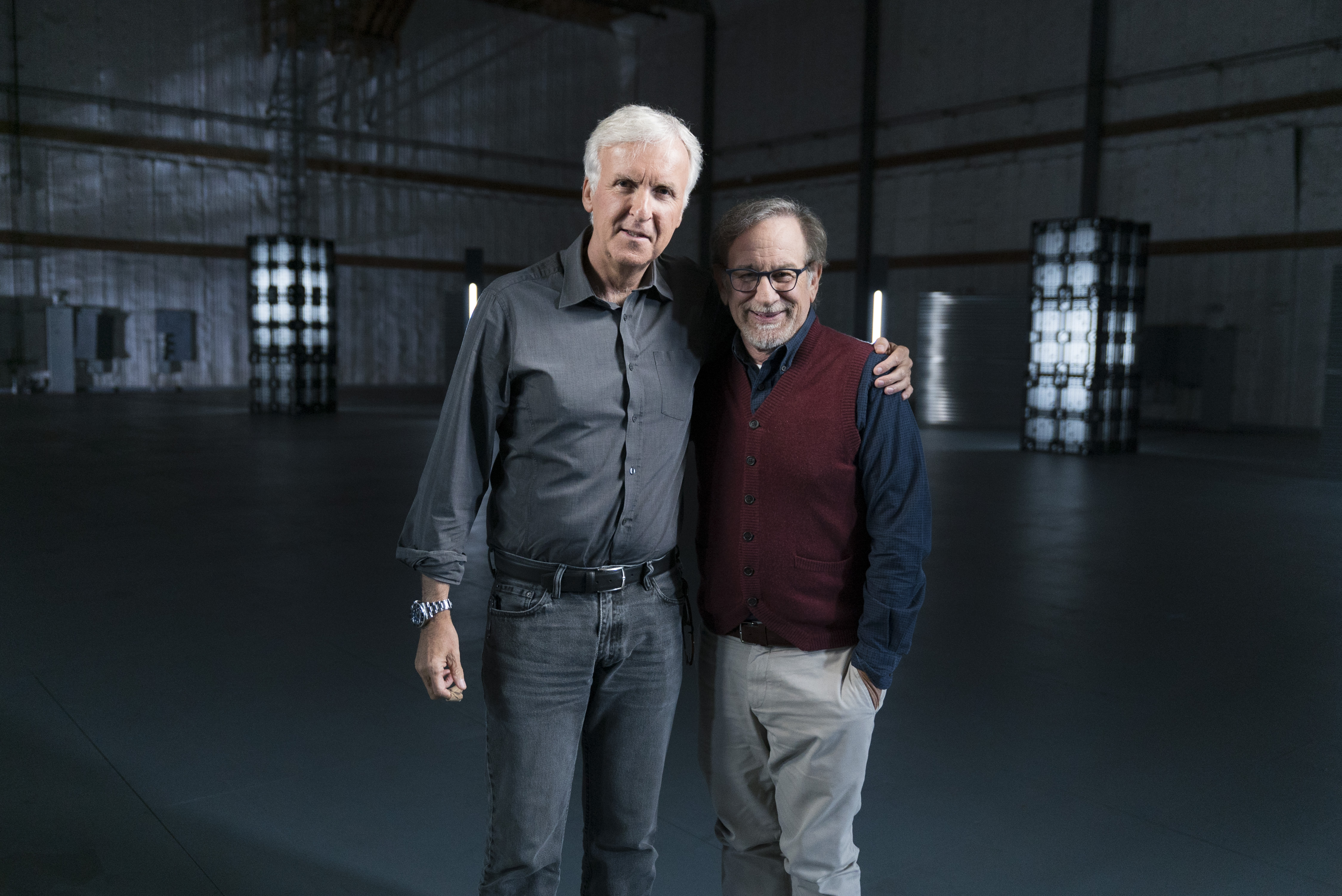 Steven Spielberg, James Cameron - James Cameron's Story of Science Fiction _ Season 1 - Photo Credit: Michael Moriatis/AMC