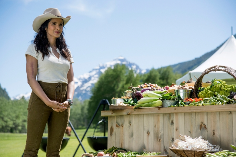 "TOP CHEF -- ""A Little Place Called Aspen"" Episode 1513 -- Pictured: Padma Lakshmi -- (Photo by: Paul Trantow/Bravo)"