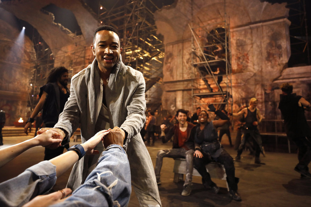 JESUS CHRIST SUPERSTAR LIVE IN CONCERT -- Rehearsal -- Pictured: John Legend as Jesus -- (Photo by: Patrick Randak/NBC)