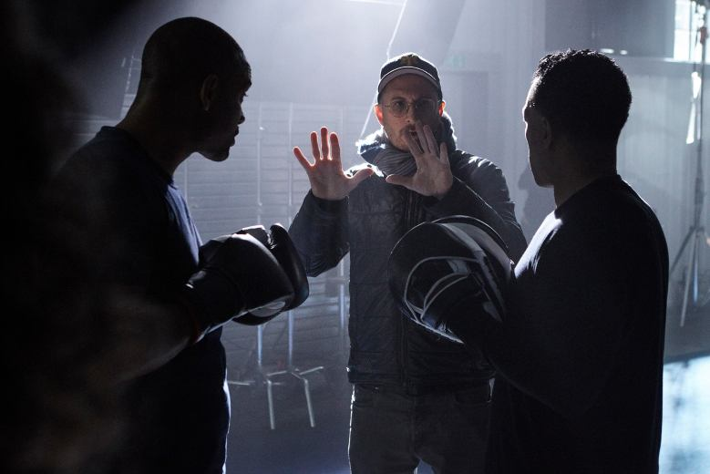 "Will Smith and Executive Producer Darren Aronofsky during production of ""One Strange Rock"". (National Geographic/Matt Frost)"