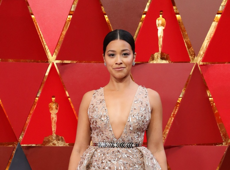 Gina Rodriguez90th Annual Academy Awards, Arrivals, Los Angeles, USA - 04 Mar 2018WEARING ZUHAIR MURAD SAME OUTFIT AS CATWALK MODEL *9328022di