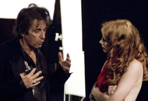 "Al Pacino and Jessica Chastain in ""Wilde Salomé"""