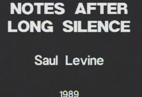 Saul Levine Notes After Long Silence