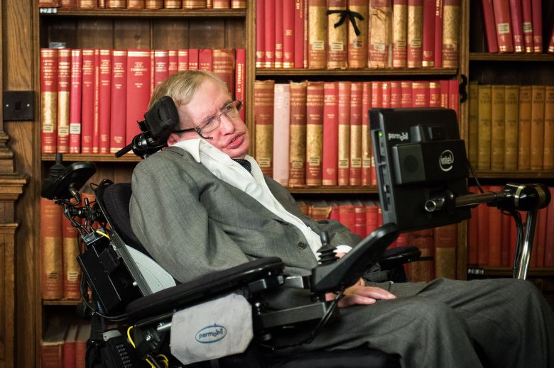 Professor Stephen HawkingProfessor Stephen Hawking at the Oxford Union, UK - 14 Nov 2016