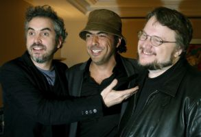 Mexican Film Directors Alfonso Cuaron (l) Alejandro Gonzalez Inarritu (c) and Guillermo Del Toro (r) Tuesday 20 March 2007 in Mexico City (mexico) where They Are Meeting Agents and Media Representatives to Strengthen the Country's Film Industry Mexico Mexico CityMexico Film Directors - Mar 2007