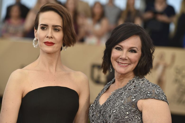Sarah Paulson, left, and Marcia Clark arrive at the 23rd annual Screen Actors Guild Awards at the Shrine Auditorium & Expo Hall, in Los AngelesThe 23rd Annual SAG Awards - Arrivals, Los Angeles, USA - 29 Jan 2017