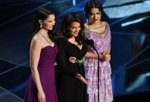 Ashley Judd, Annabella Sciorra and Salma Hayek90th Annual Academy Awards, Show, Los Angeles, USA - 04 Mar 2018
