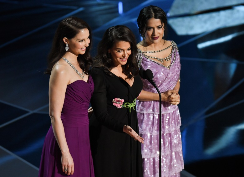 Ashley Judd, Annabella Sciorra and Salma Hayek90th Annual Academy Awards, Show, Los Angeles, USA - 04 Mar 2018