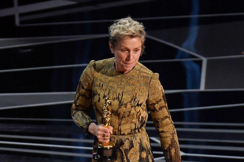 Frances McDormand - Lead Actress - 'Three Billboards Outside Ebbing, Missouri'90th Annual Academy Awards, Show, Los Angeles, USA - 04 Mar 2018WEARING VALENTINO
