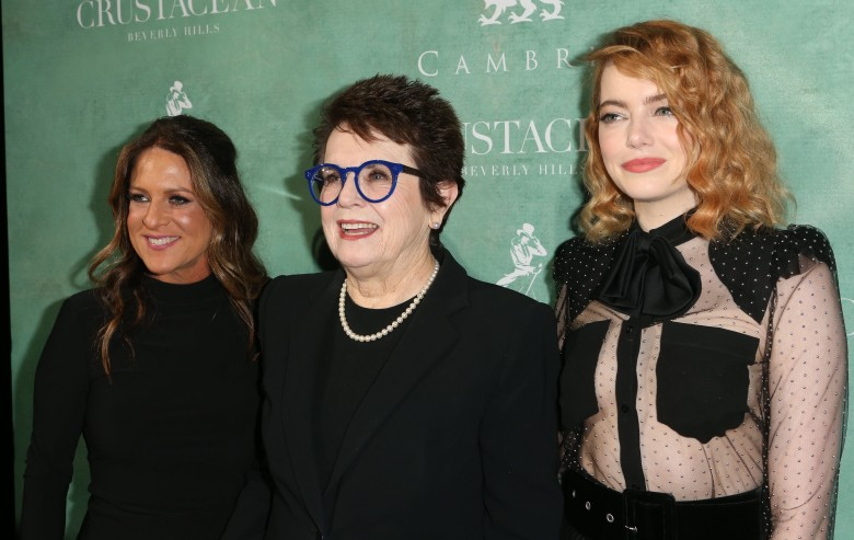 Cathy Schulman, Billie Jean King and Emma StoneWomen in Film Pre-Oscar Cocktail Party, Arrivals, Los Angeles, USA - 02 Mar 2018
