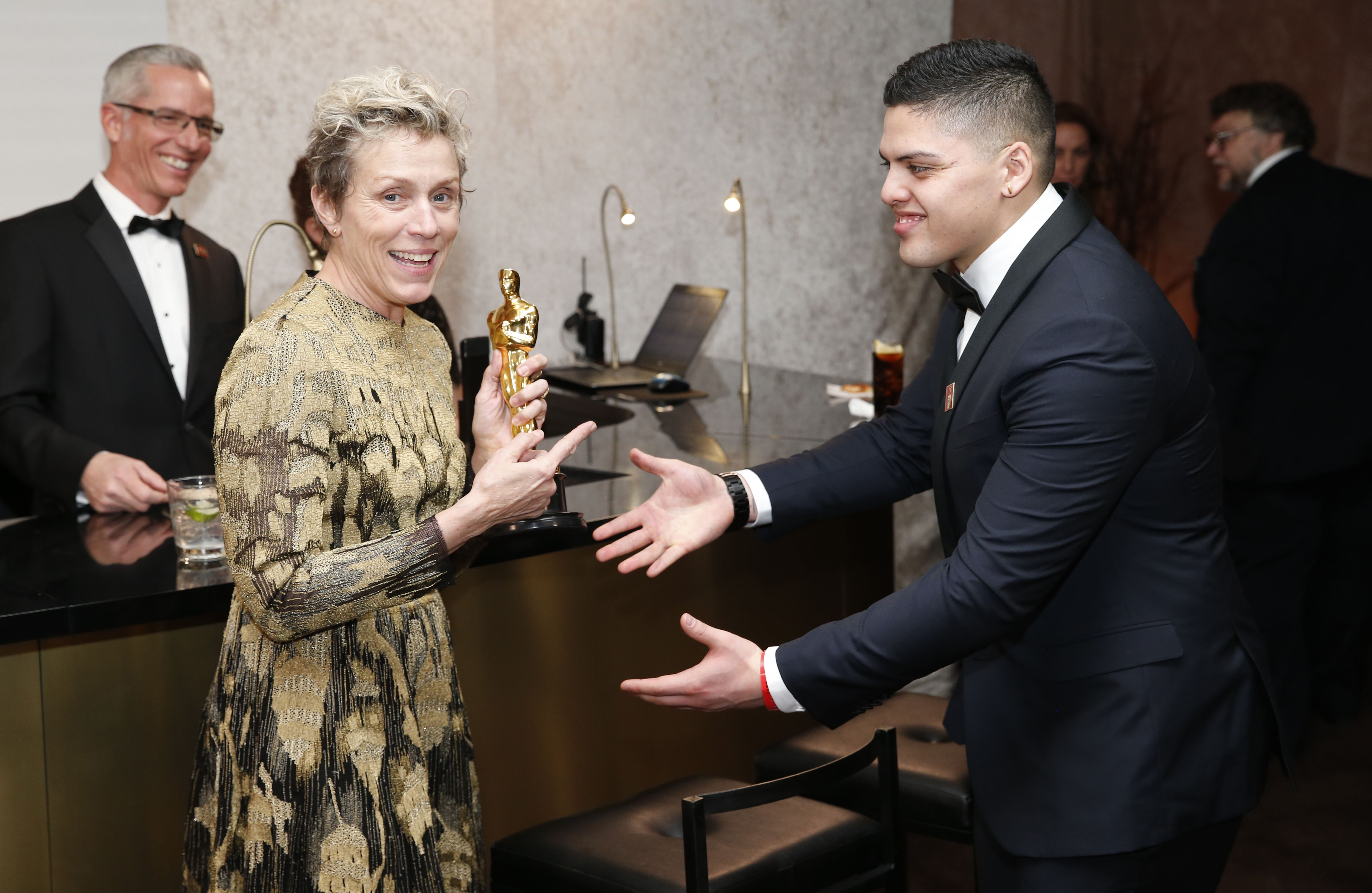 "Frances McDormand, winner of the award for best performance by an actress in a leading role for ""Three Billboards Outside Ebbing, Missouri"", attends the Governors Ball after the Oscars, at the Dolby Theatre in Los Angeles90th Academy Awards - Governors Ball, Los Angeles, USA - 04 Mar 2018"