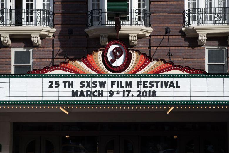 The Paramount TheatrePreparations, SXSW Festival, Austin, USA - 08 Mar 2018